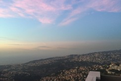 Panoramic View Roof Apartment For Sale In Bikfaya