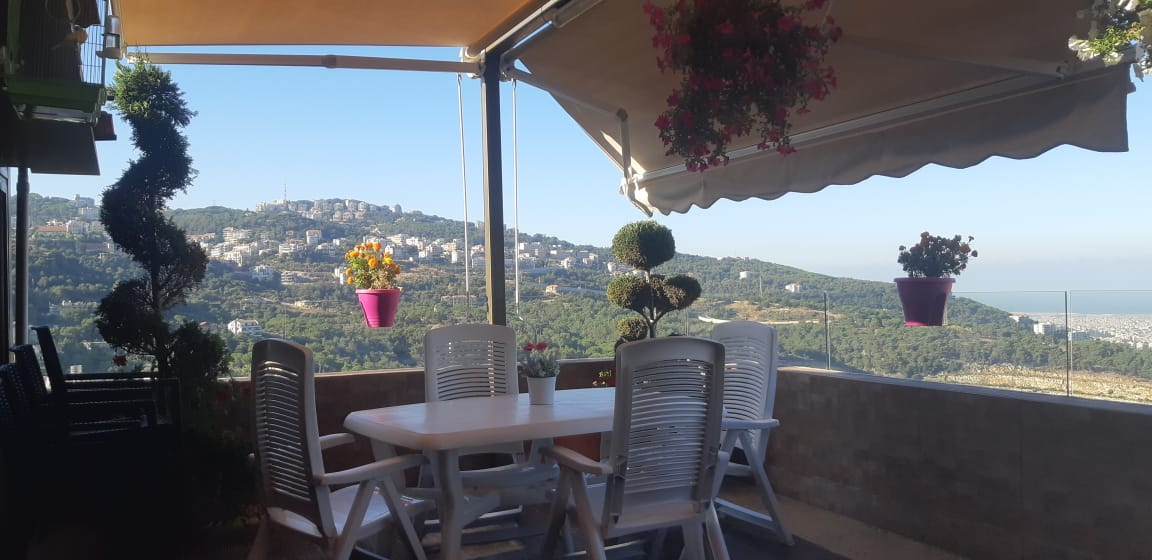 Panoramic View Furnished Apartment For Sale In Bsalim